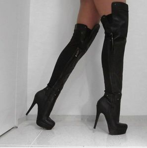 Baker High Heel over the Knee Boots